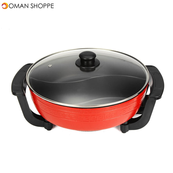 5L Non-Stick Stainless Steel Home Electric Shabu Hot Pot Smokeless 1800W