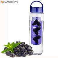 700ML Sports Plastic Fruit Infuser Water Bottle Cup BPA Free Filter Juice Maker