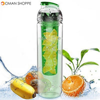 800ML Portable Clear Sport Fruit Infuser Water Cup Lemon Juice Bottle Filter