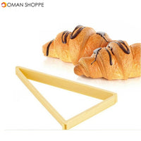 Baking Pastry Tools Plastic Croissant Cutter Mold Roll Croissant Maker Machine Bread Line Mould Dough Sheet