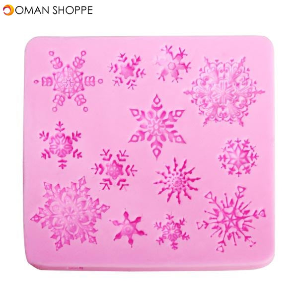 Christams Silicone Snowflakes Cake Mold Xmas Fondant Cake Decoration Mould