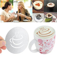 Coffee Art Decorating Tool Stainless Steel Thick Coffee Making Mould Stainless Steel Coffee Pattern Template Stencils Cappuccino Latte Art Mold Tools