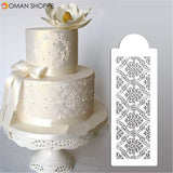 Damask Lace Border Cake Side Cupcake Stencil Sugarcraft Decoration Baking Mould