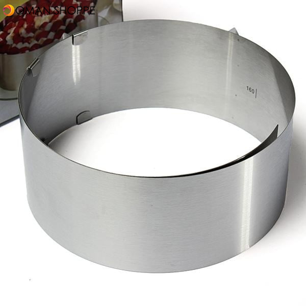 DIY Adjustable Rounded Mousse Ring Retractable Circle Ring Cake Mould