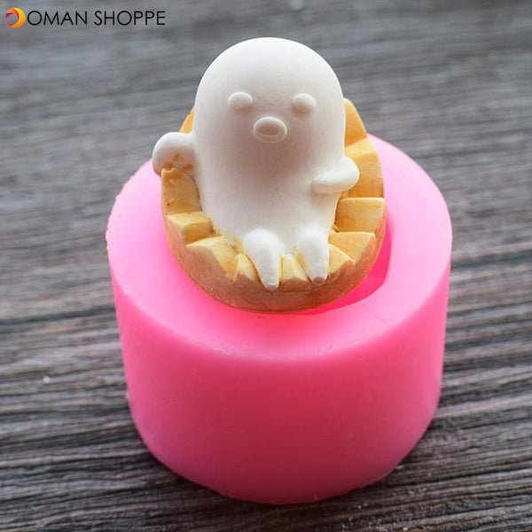 Food Grade Silicone Cake Mold DIY Chocalate Cookies Ice Tray Baking Tool Cute Baby Shape