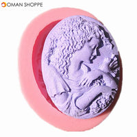 Goddess Head Portrait Silicone Fondant Mold Chocolate Soap Mould
