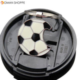 Honana 1pc Football Metal Key Beer Bottle Opener World Soccer Cup Fans Key Chains Decoration Home Club Decor Supplies Baby Favor Gifts Convenient Bottle Opening Cap Zinc Alloy Launcher