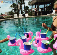 Honana CF-IC06 Mini Flamingo Floating Inflatable Coasters Swimming Pool Drink Phone Holder Stand