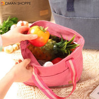 Honana CF-LB012 Portable Insulated Cooler Lunch Tote Bag Square Food Picnic Storage Container