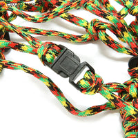 KCASA KC-BC010 Colorful Parachute Cord Mesh Water Bottle Carrier Bag Travel Climbing Survival Rope