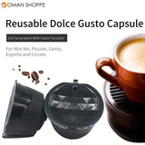 KCASA KC-COFF15 Refillable Coffee Capsule Cup Reusable Refilling Filter For Nespresso Machine Kitchen Accessories