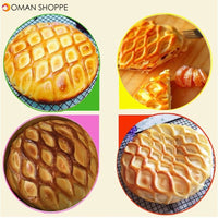 Large Size Pie Pizza Cookie Cutter Pastry Plastic Baking Tools Bakeware Embossing Dough Roller Lattice Cutter Craft