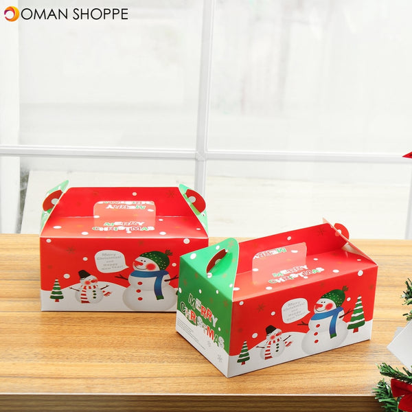 LOT 1/2/5pcs Kids Christmas Eve Apple Box Cake Candy Table Present Gift Boxes Cake Box Decorations
