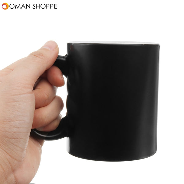 Middle Finger Heat Change Color Changing Coffee Tea Mug Joke Funny Secret  #