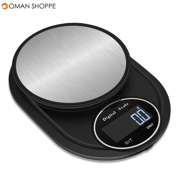 Minleaf ML-KS1 Multifunctional Mini Kitchen Scale 5kg/0.1g Kichen Baking Scale Portable Electronic Scale Measuring Tool (Black)