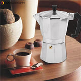 Moka Pot Stovetop Espresso Coffee Maker Latte 150/300/450ML