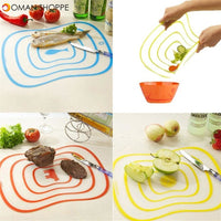 Non-slip flexible kitchen Board Chopping Block Meat Vegetable Fruit Cutting Board cooking tool gadget kitchen accessories