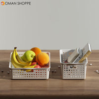 QUANGE SN050101 2PCS Home Storage Baskets Desktop Storage Box High Quality Storage Organizer Plastic Basket From Xiaomi Youpin