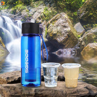 SGODDE 22.2 OZ Sports Water Bottle BPA Free  with Filter Outdoor Portable Travel