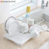 Single Layer Stainless Steel Rack Shelf Plate Bowl Spoon Cutlery Drying Storage for Kitchen Dishes