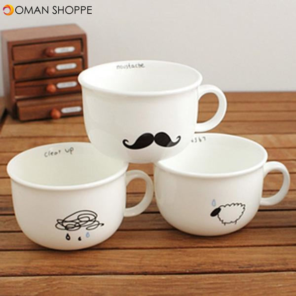 Small Raindrops Sheep Beard Bird Ceramic Coffee Cup