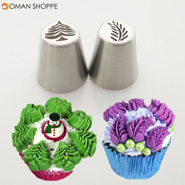 Snow Style Pastry Nozzle New Year Christmas Snowflakes Piping Tips Fondant  Cake DIY Decorating Tools