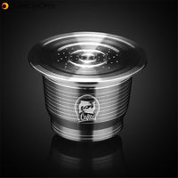 Stainless Steel Coffee Capsule Cup Reusable Refillable Kit For Nespresso U Machine