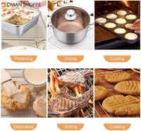 Stainless Steel Nonstick Cooling Rack Cooling Grid Baking Tray For Biscuit/Cookie/Pie/Bread/Cake Baking Rack