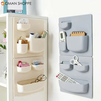 Home Wall Mounted Rack Organizer Cosmetic Sundries Holder Kitchen Bathroom Shelf Kitchen Storage Container