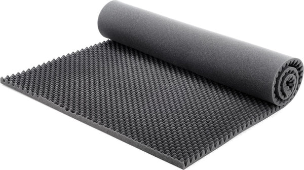 "1"" Convoluted Acoustic Foam Charcoal Egg Crate Panel Studio Soundproofing Foam Wall Panel 72"" X 36"" X 1"" - Supreme Acoustics"