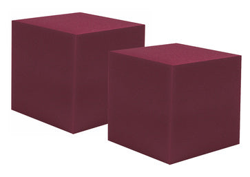 "2 Pc Corner Fill Soundproofing Acoustical Foam 12""x12""x12"" Corner Fill Cube (2 Pc.) Burgundy"