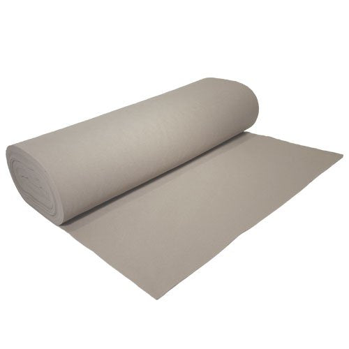 "Acrylic Felt by the Yard 72"" Wide X 10 YD Long: Lighy Gray - Supreme Acoustics"
