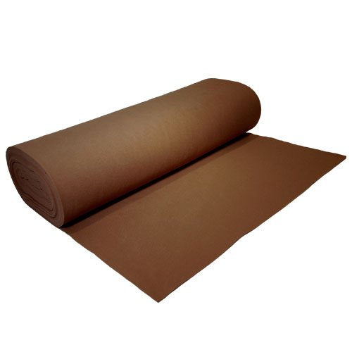 "Acrylic Felt by the Yard 72"" Wide X 10 YD Long: Brown - Supreme Acoustics"