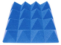 "3"" Blue Acoustic Foam (12 Pack Kit) - Pyramid 3"" 12"" x 12"" covers 12sq Ft SoundProofing/Blocking/Absorbing Acoustical Foam Made In USA!"