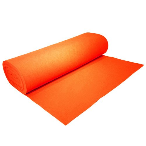 "Acrylic Felt by the Yard 72"" Wide X 10 YD Long: Orange - Supreme Acoustics"