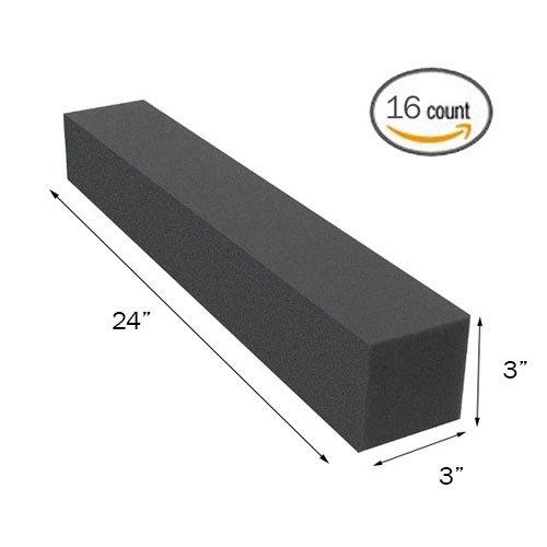"(16PK) 3""x3""x24"" Soundproofing Foam Acoustic Studio Corner Block Corner Wall - Supreme Acoustics"