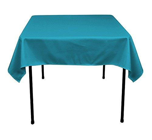 Square Tablecloth - 60 x 60 Inch - Turquoise Square Table Cloth for Square or Round Tables in Washable Polyester - Great for Buffet Table, Parties, Holiday Dinner, Wedding & More - Supreme Acoustics