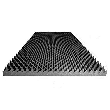 "3"" Convoluted Acoustic Foam Charcoal Egg Crate Panel Studio Soundproofing Foam Wall Panel 72"" X 36"" X 3"" - Supreme Acoustics"