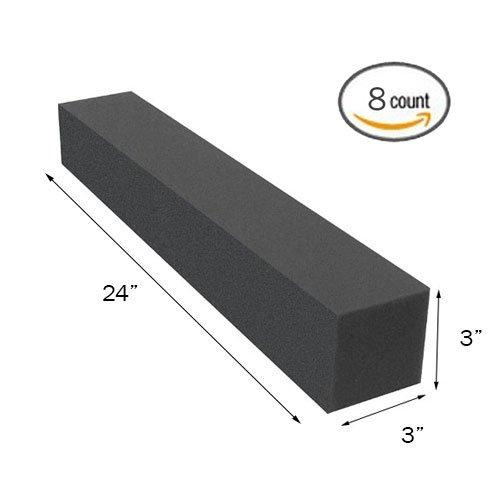 "(8PK) 3""x3""x24"" Soundproofing Foam Acoustic Studio Corner Block Corner Wall - Supreme Acoustics"