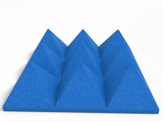 "4"" Blue Acoustic Foam (12 Pack Kit) - Pyramid 4"" 12"" x 12"" covers 12sq Ft SoundProofing/Blocking/Absorbing Acoustical Foam Made In USA!"