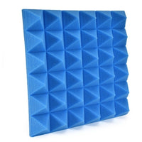 "2"" Blue Acoustic Foam (12 Pack Kit) - Pyramid 2"" 12"" x 12"" covers 12sq Ft SoundProofing/Blocking/Absorbing Acoustical Foam Made In USA!"