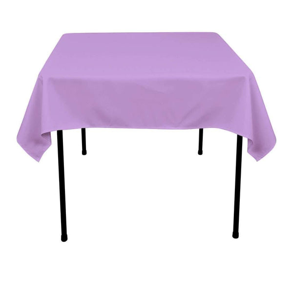 Square Tablecloth - 60 x 60 Inch - Lavender Square Table Cloth for Square or Round Tables in Washable Polyester - Great for Buffet Table, Parties, Holiday Dinner, Wedding & More - Supreme Acoustics