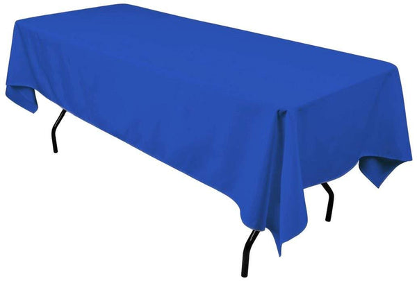 "Rectangle Tablecloth - 60 x 102"" Inch - Royal Blue Rectangular Table Cloth for 6 Foot Table in Washable Polyester - Great for Buffet Table, Parties, Holiday Dinner, Wedding & More"