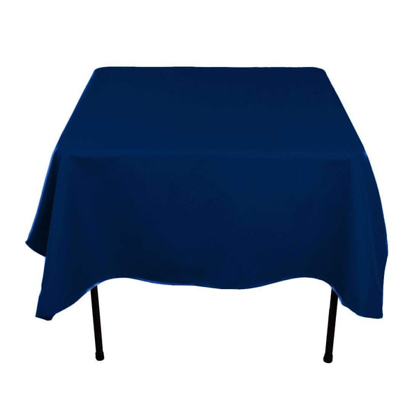 Square Tablecloth - 60 x 60 Inch - Navy Blue Square Table Cloth for Square or Round Tables in Washable Polyester - Great for Buffet Table, Parties, Holiday Dinner, Wedding & More