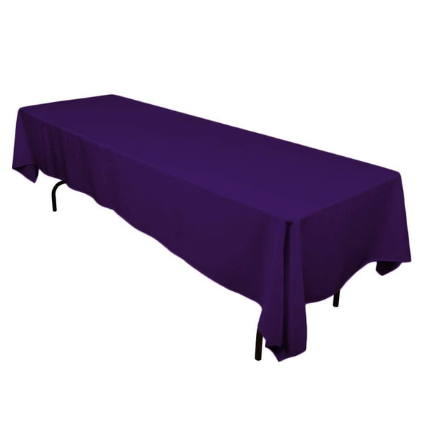 Rectangle Tablecloth - 60 x 120 Inch - Purple Rectangular Table Cloth in Washable Polyester - Great for Buffet Table, Parties, Holiday Dinner, Wedding & More