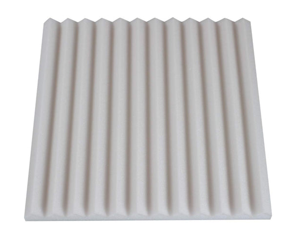 "IVORY Wedge 1""X 12""X 12"" Sound Damping Sound Proofing/Blocking 12 Pack - Supreme Acoustics"