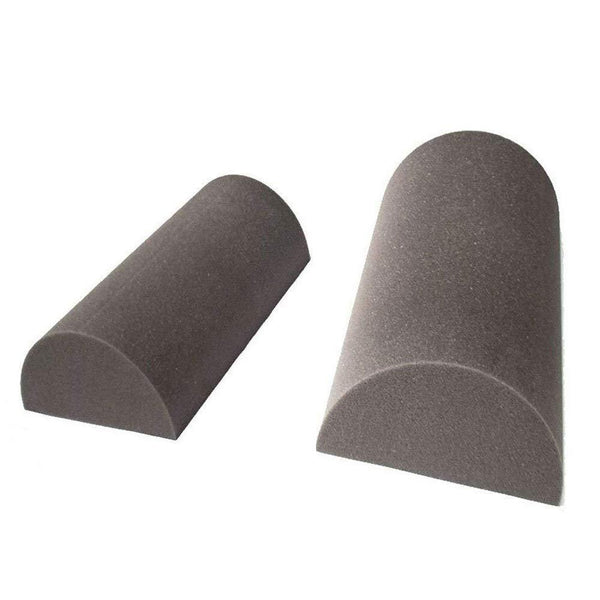"Set of 2 - Acoustic Foam Studio Half Moon Corner Block Wall Finish Acoustic 24"" X 9"" X 4.5"" - Supreme Acoustics"