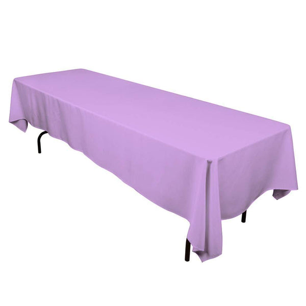 Rectangle Tablecloth - 60 x 120 Inch - Lavender Rectangular Table Cloth in Washable Polyester - Great for Buffet Table, Parties, Holiday Dinner, Wedding & More - Supreme Acoustics