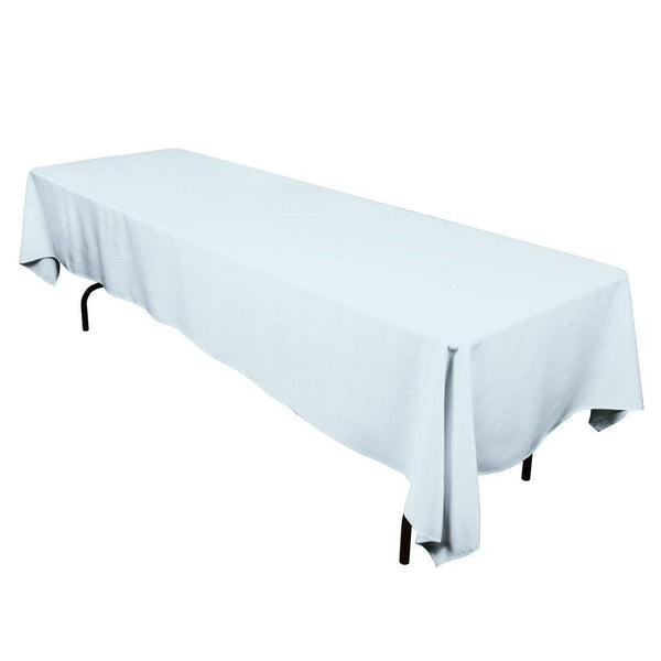 Rectangle Tablecloth - 60 x 120 Inch - Baby Blue Rectangular Table Cloth in Washable Polyester - Great for Buffet Table, Parties, Holiday Dinner, Wedding & More