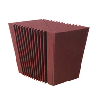 "Burgundy 8 Corner Bass Trap/Absorber - 12"" x 12"" x 24"" Acoustic Sound Foam Kit - SoundProofing and Deadening - Made In The USA!"